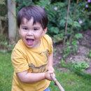 Henry in the garden
