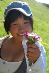 Mongolia Flower Girl