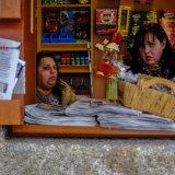 Newspaper Stand, Santiago, Spain