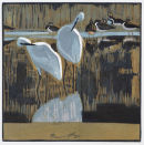 Little Egrets £95 unframed