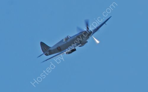 A Spitfire over Brighouse