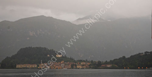 Early morning view across the Lake to Bellagio