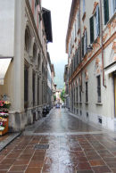 Typical narrow street in Como