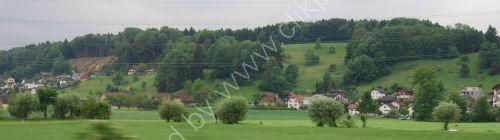 Swiss green valley scene