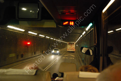 Passing through a tunnel
