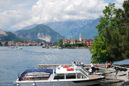 View of Isola Pescatori from Isola Bella