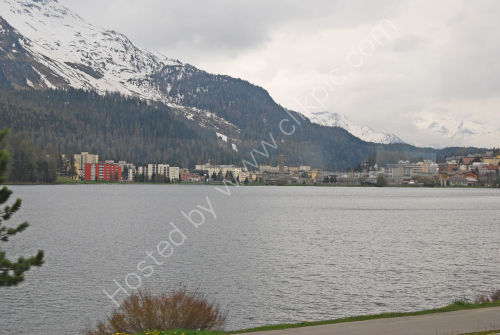 Along Lake St. Moritz