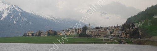 Village in the Engadin Valley