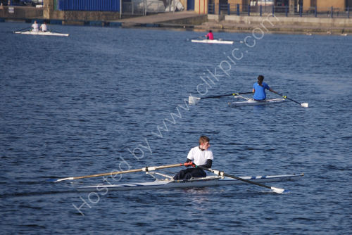Scullers on the Lake