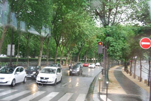 A wet Paris street...