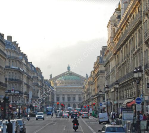 Paris city scene