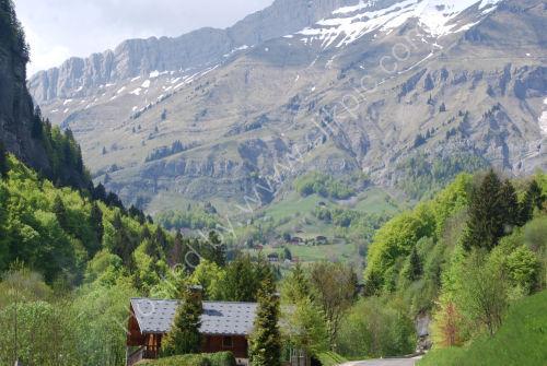 A valley of the Col de Aravis