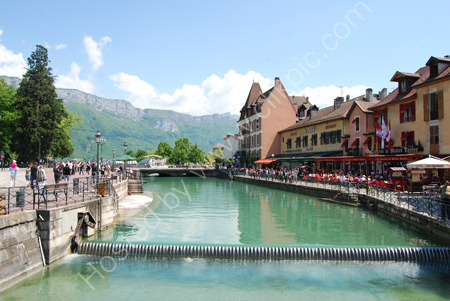 Canal leading to the Lake at Annecy