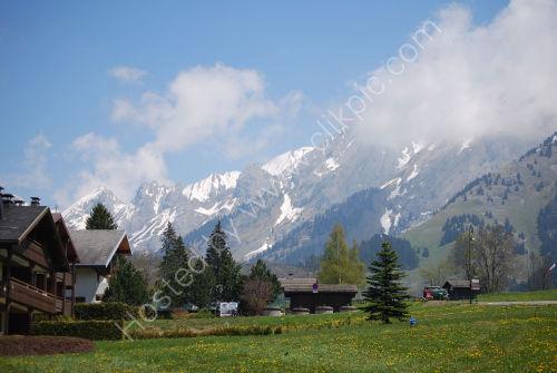 Alpine backdrop to La Clusaz
