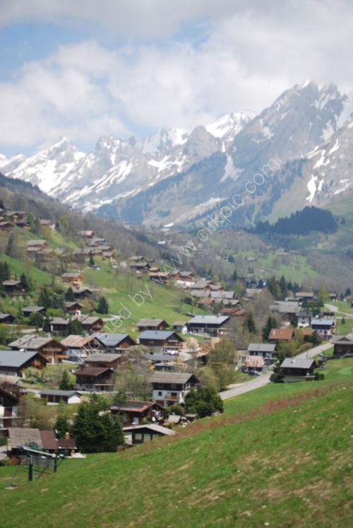 The upper part of La Clusaz