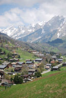 The upper part of La Clusaz