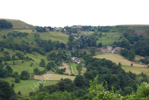 Steep lane into the valley ....