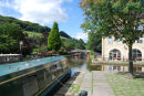The Rochdale Canal through Hebden Bridge