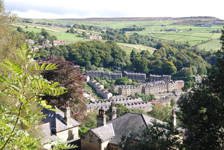 Looking down on Hebden Bridge