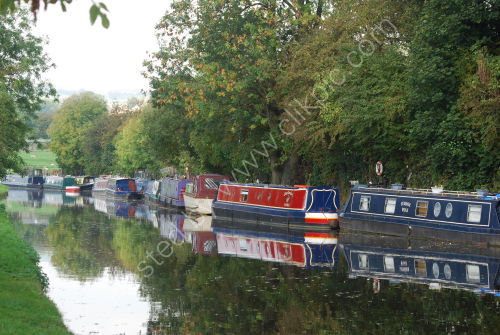 Canal barge moorings