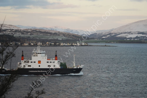 Ferry passing the front of the Glenburn Hotel