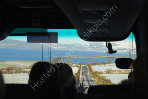 'Framed' view from the coach
