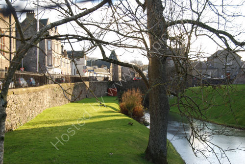 The moat at Rothesay Castle
