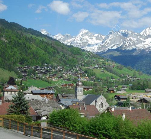 The village of Le Reposoir on the Col de la Colombiere
