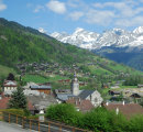 The village of Le Reposoir on the Col de la Colombiere