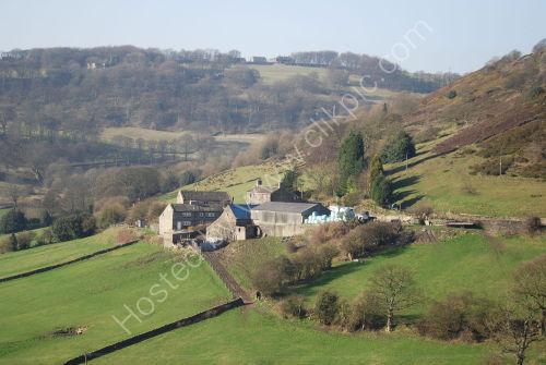 Farm buildings on the hillside