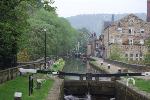The Rochdale Canal at Hebden Bridge
