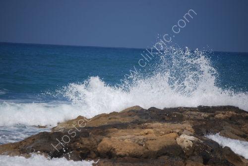 Sea spray on a blue background