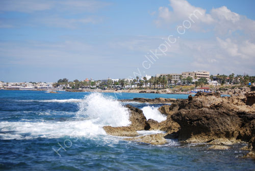 Coastline towards Paphos town