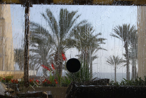 Pouring down outside....