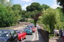 Crossing the bridge at Bakewell