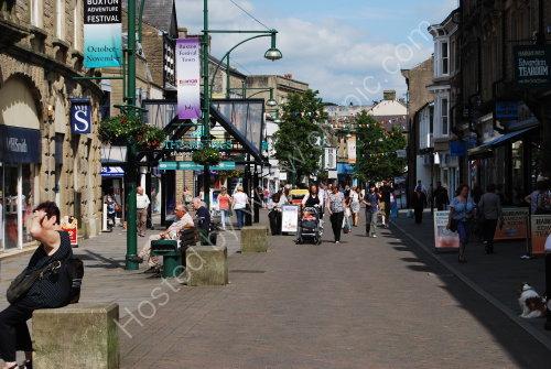 Shopping street in Buxton