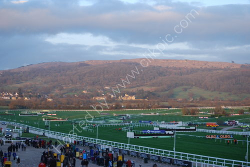 Cheltenham Race course and Cleeve Hill