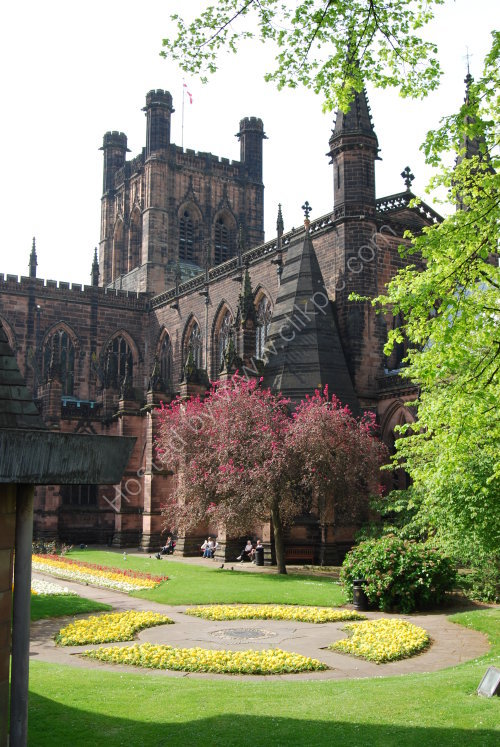 Chester Cathedral [from the City walls]