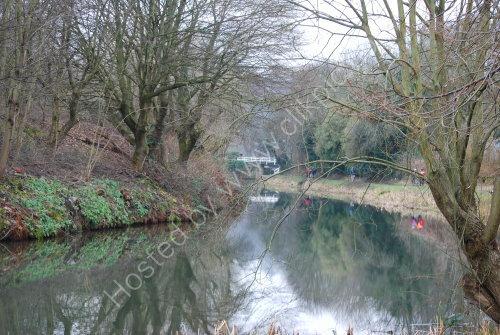 Towpath reflections near Gannys lock