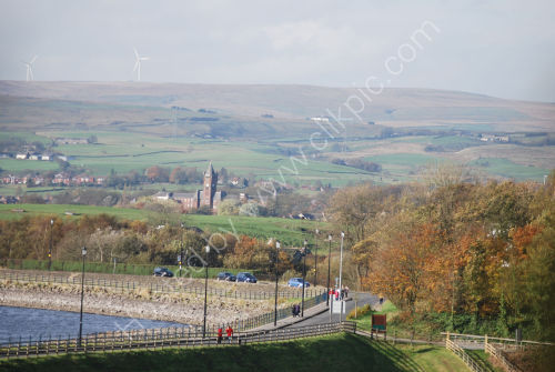 Hollingworth Lake and the hills beyond