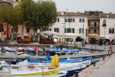 Colourful harbour at Garda