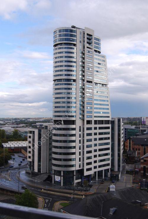 Modern tower block, Leeds