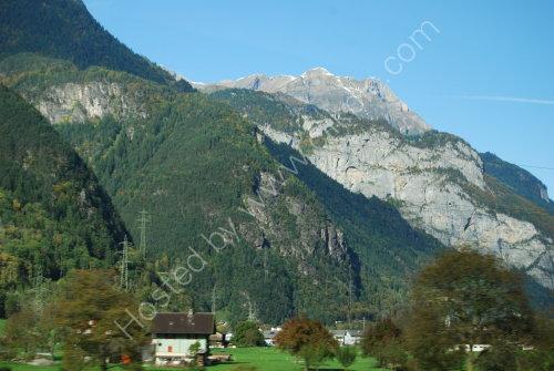 Alpine valley in Switzerland
