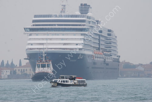 Cruise Liner passing Venice
