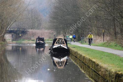 Barges on the Calder & Hebble