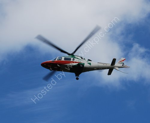 Helicopter coming into land at Aintree