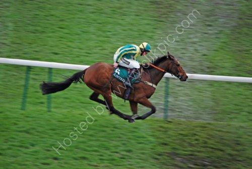 Urbak winning the first race