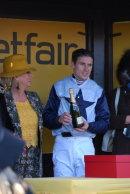 The winning jockey