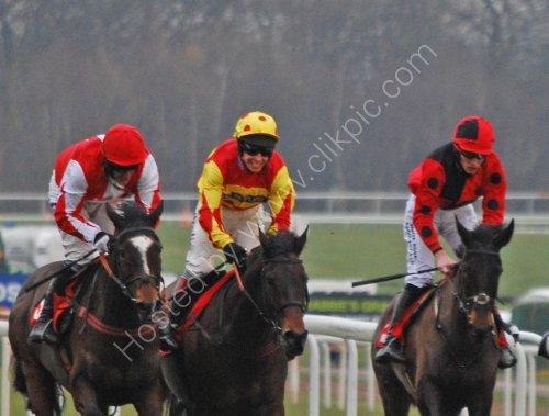 Happy winning Jockey
