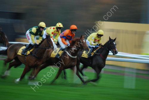 Speeding around the course (panning)